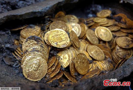 Hundreds of rare gold coins discovered beneath Italian theater